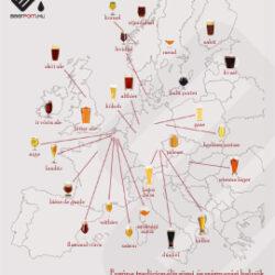 Európa tradicionális sörei és származási helyük